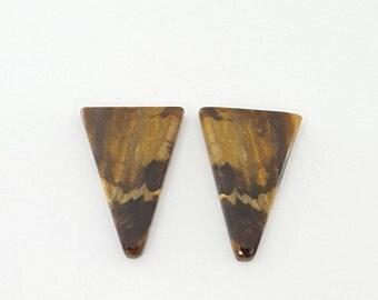 Peanut wood Jasper Cabochon  Pair