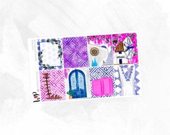 Santorini Full Boxes - Matte or Glossy Erin Condren Planner Stickers