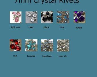 Add 7mm Crystal Rivets