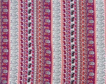 """Indian Decor Fabric, Dress Material, Multicolor Fabric, Sewing Accessories, Printed Fabric, 45"""" Inch Polyester Fabric By The Yard ZBP66B"""