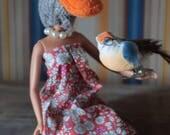 Duck animal head art doll...