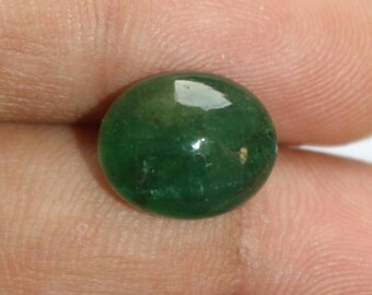 7.50 Cts Natural Green Emerald Oval Shape Cabochon