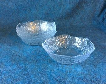 Vintage Cristal D'Arques Mallory Soup or Salad Bowls, Set of 4