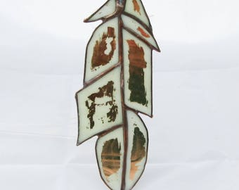 stained glass feather glass feather suncatcher glass glass decoration feather decoration suncatcher feather window feather wall decoration