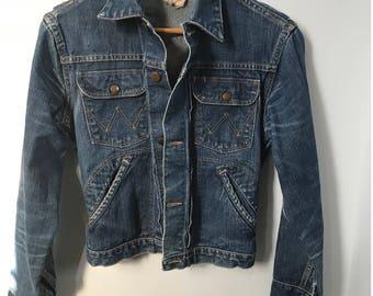 Vintage 1950s Wrangler Blue Bell Denim Jacket Size 34 - Vintage Jean Jacket - Wrangler Jean Jacket - 1950s Denim Jacket