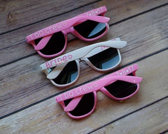 Personalized Sunglasses - 1 pair / Wedding Sunglasses / Bachelorette Sunglasses / Bridal Sunglasses / Custom Sunglasses / Bachelorette Party