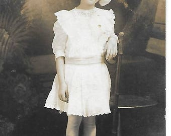 Young Girl in a Bow - 1910s - Antique Photo