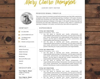 creative resume template resume with photo instant download resume resume icons resume