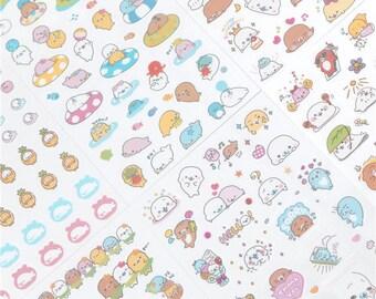 Kawaii Mamegoma Stickers / Kawaii Seal Stickers / Cute Seal Stickers / Cute Stickers / Kawaii Stickers / Planner Stickers / Cute Stationery