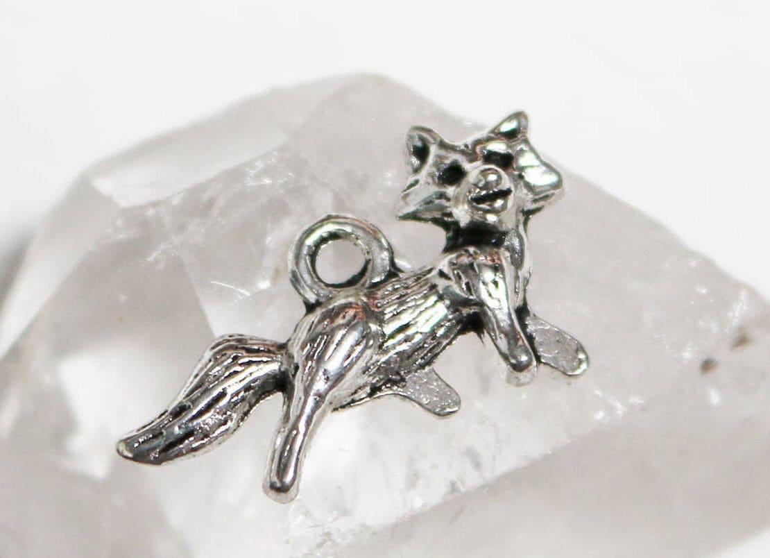 6pcs Fox Charms Antique Silver 24x13mm Animal Jewellery Craft Supplies B71510