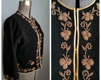 vintage beaded cardigan sweater