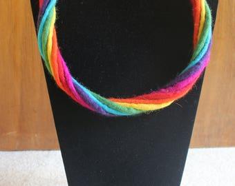 Rainbow Felt Multi-Strand Necklace
