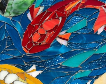 Convergence: Stained Glass Mosaic Wall Art