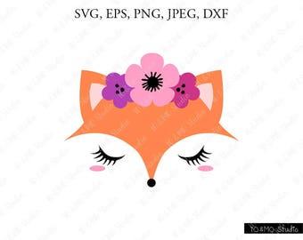Cute cartoon fox face - photo#48