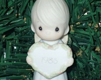 Precious Moments 1985 God Sent His Love Christmas Ornament #15768