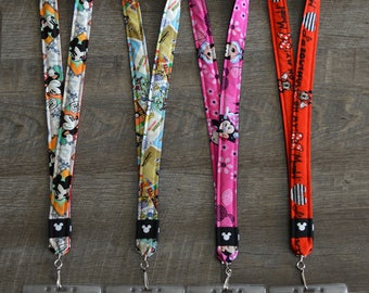 Mickey Mouse, Donald Duck, and Minnie Mouse Disney Lanyards