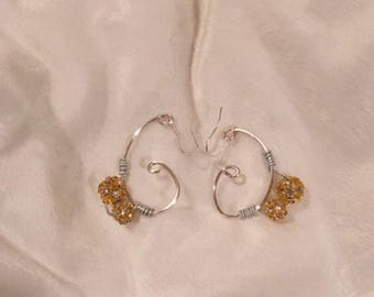 Handcrafted wire earrings