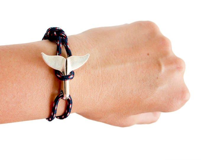 Whale Tail Bracelet, Whale Tail Jewelry, Whale Tail Hook Bracelet - Handmade Friendship Cuff Bracelet S - XL