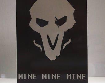5x7 Overwatch Reaper Mine Mine Mine Card
