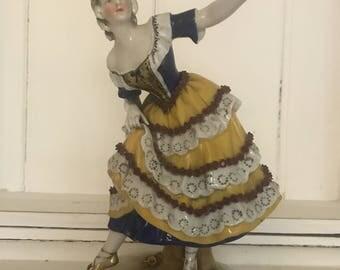 Antique German porcelain dancer Marked Ludwigsburg
