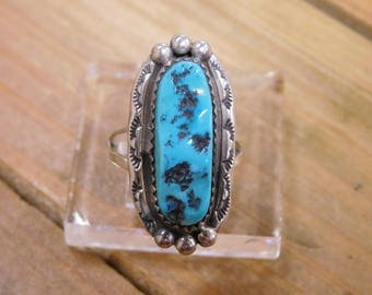 Sterling Silver Turquoise Ring Size 6.5