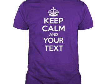 Custom KEEP CALM and Your Text Short Sleeve T-Shirts T-Shirt Tee C-T08