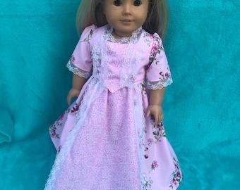18 inch doll clothes,18 inch doll dress,American Girl Clothes,American Girl dress,AG doll long dress,AG doll clothes,18 inch doll clothes