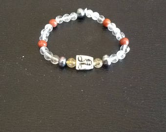 Our guardian angels 3 semi-precious stones bracelet