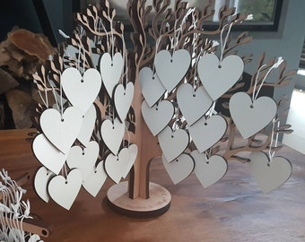 Guestbook tree wishes baptism vows tree wedding guest book wedding vows wooden heart filled with wishes for the newlyweds christening book