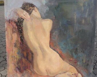"Nude zhivopis'""Otdyh"", Etude, oil/canvas, 2008.95/78 cm. K. Smelov."