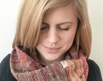 Infinity scarf, winter scarf, knit scarf, circle scarf,  gift for her mother sister girlfriend