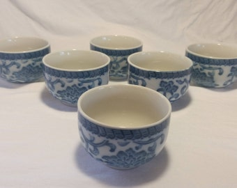 Rice bowls by andrea by sadek/blue and white rice bowls/ceramic rice bowls