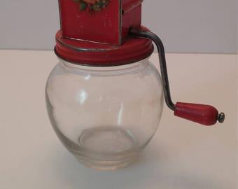 Hazel Atlas Glass Nuts Herb Nutmeg Chopper
