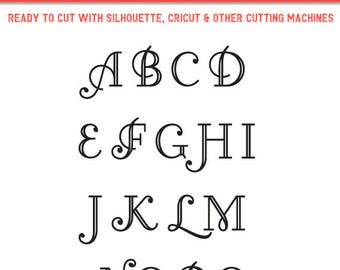 Cursive Font svg, Cursive font cut file, Swirl Font svg,Monogram font svg,Calligraphy Font svg,Beautiful Font svg,Alphabet svg,Name Font svg