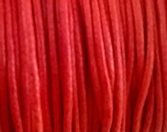 Tomato red coated cotton 2 mm
