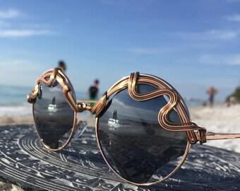 Sunglasses, New Style, Retro Vintage New Unisex Sun Glasses, CoPPeR Wire Wrapped Glasses / Urban Bohemian Chic Sun Glasses Eyewear Glasses