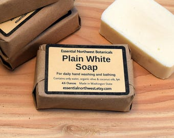 Plain White Soap - 4.6 oz. – Organic & Veggie