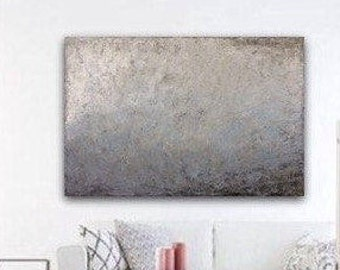 Extra Large Abstract Painting on Canvas, Gray Brown White Texture Art Modern Canvas Art, Original Acrylic Painting by Sonja Alfreider