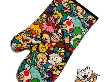 Mario and Nintendo Characters Oven Mitt