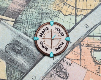 Make Your Own Path Iron-on Patch - Mindfulness Quote - Compass