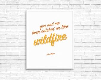 "John Mayer ""Wildfire"" lyrics — John Mayer music lyrics"