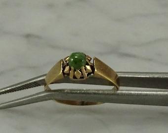 Jade 10K Gold Ring (size 5.25)