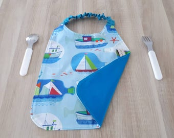 Bib/towel personalized boat name.