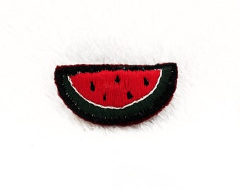 Watermelon Hand Embroidered Pin ~ Watermelon Hand Embroidered Patch ~ Watermelon Hand Embroidered Brooch ~ Watermelon Accessory