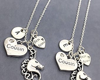 Best friend Necklace for 2, BFF Necklace,  Best Friend Charm, BFF Necklace, Friendship Jewelry,Gift Friend, 2 Silver Necklaces, Gift BFF