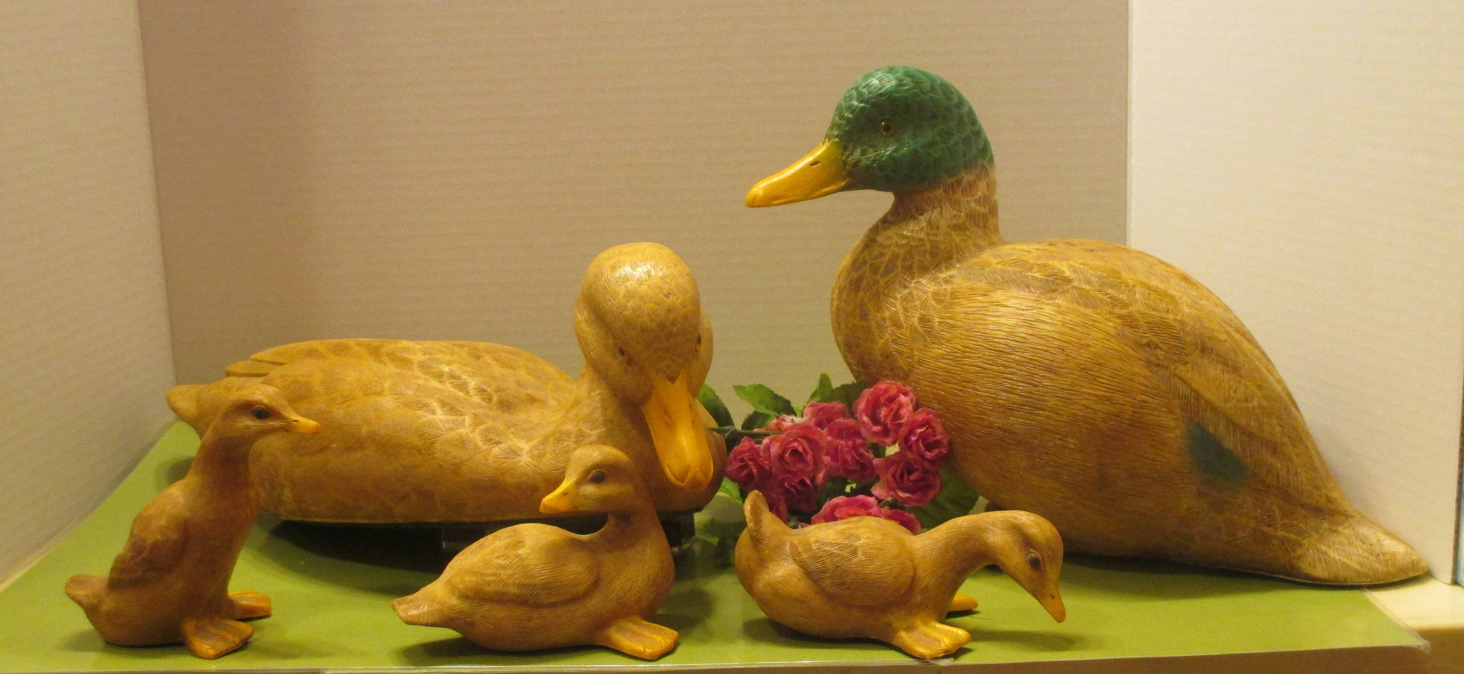Duck family mallard home interior paperweights for Duck decorations home