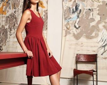 Unique dark red amber piece dress