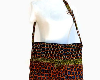Travel Cross Body Bag - Zipper Bag - Ankara Bag - Ready to Ship - African Bag - Cross Body Bag - African Handbag - Ankara School Bag
