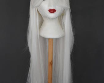 Long White Wig | White Wig | Long Wig | Cosplay Wig | Costume Wig | Kawaii Wig - short wig with high quality synthetic hair