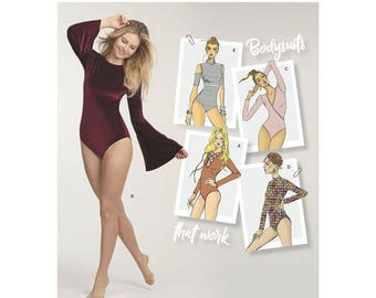 Sewing Pattern for Misses' Stretch Knit Bodysuits, Simplicity Pattern 8513, New Pattern, FIVE Styles of Women's Bodysuits